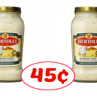 Bertolli Alfredo, Four Cheese or Carbonara Sauce just 45¢ at Publix!  (Free for some)