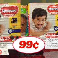 Huggies Jumbo Diapers 99¢ per pack at Publix!!