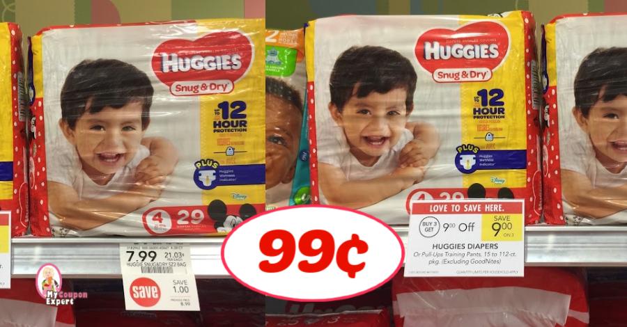 Huggies Jumbo Diapers 99¢ Per Pack At Publix