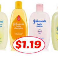 Johnsons Baby Wash, Lotion and Shampoo only $1.19 at Publix!