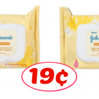 Johnsons Baby Wipes only 19¢ at Publix!