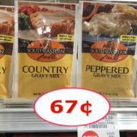 Southeastern Mills Country Gravy just 67¢ each at Publix!