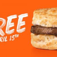 Free Hardee's Sausage Biscuit on April 15th!