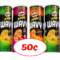Pringles Wavy Chips 50¢ at Publix!