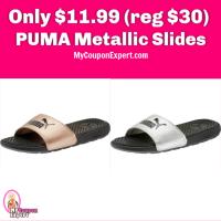 PUMA Metallic Slides just $11.99 (reg $30) Free Shipping!