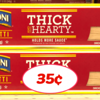 Ronzoni Thick & Heart Pasta just 35¢ each at Publix!