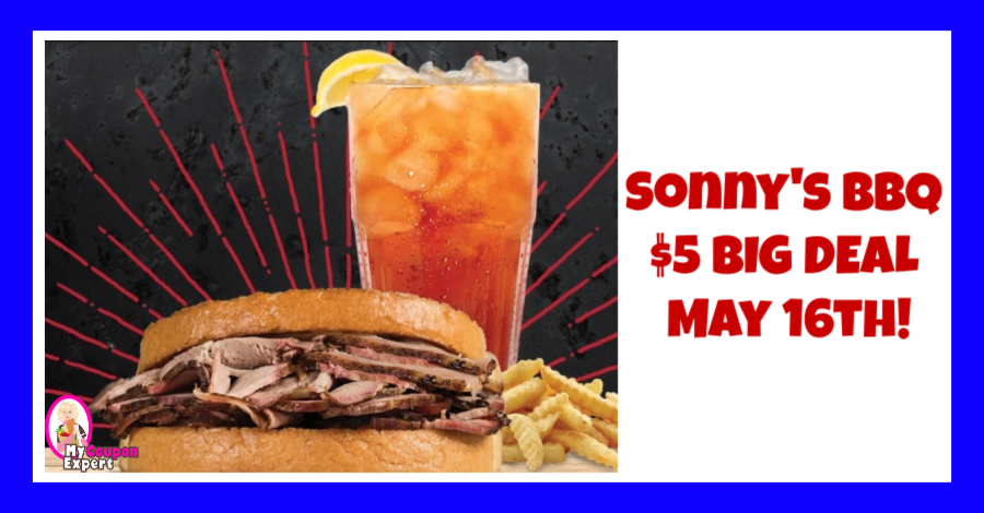 photo regarding Sonnys Barbeque Coupons Printable identified as Sonnys BBQ Sliced Pork Huge Bundle only $5.00 upon May possibly 1 6th! ·