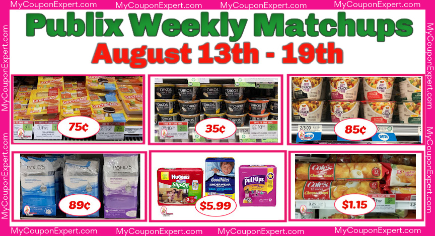 Publix Weekly Matchups August 13th 19th 8 12 8 18 For Some