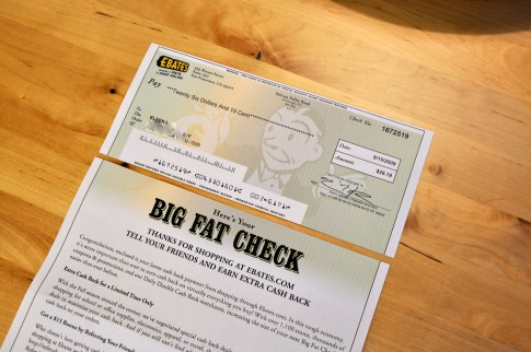 Are you using EBATES?!  I love it when my BIG FAT CHECK arrives!!