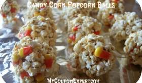 Candy Corn Popcorn Balls!!   Perfect for Halloween!