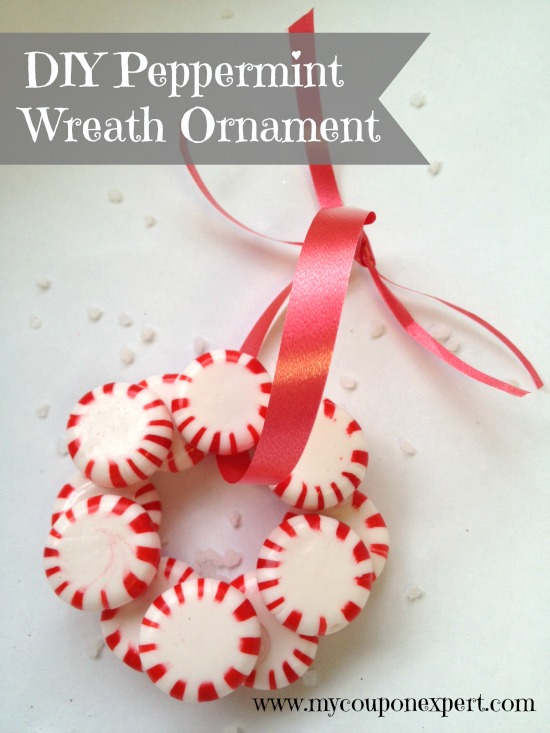 Festive Fun Diy Peppermint Candy Wreath Ornament