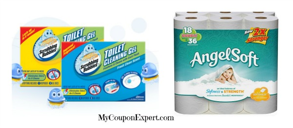 Coupon scrubbing bubbles toilet cleaning gel