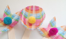 Spring Family Fun: Cupcake Cup Flowers Craft