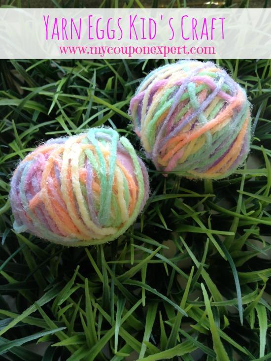 Spring Family Fun: Yarn Eggs Kid's Craft