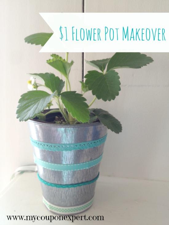 Frugal Friday Fun: $1 Flower Pot Makeover