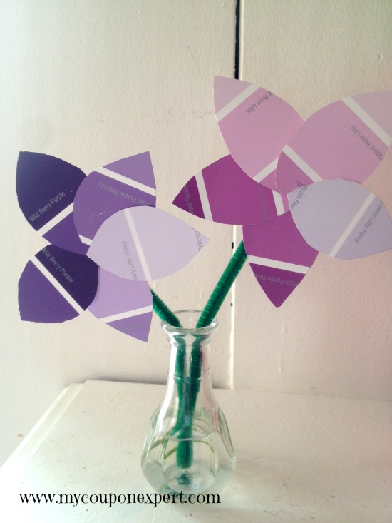 Mother's Day Fun: Paint Chip Flower Bouquet