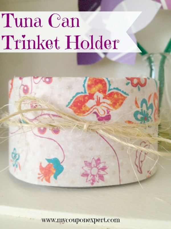 Last Minute Mother's Day Gift: Tuna Can Trinket Holder