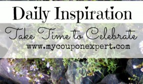 Daily Inspiration: Take Time to Celebrate