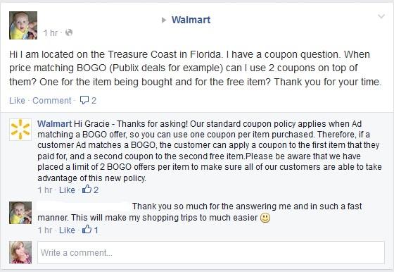 walmart bogo on facebook page
