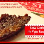 slow cooker hot fudge brownies