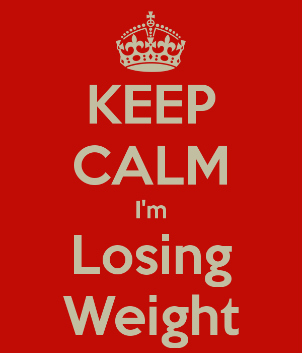 Keep calm.. I'm losing weight!  WOOHOO!  Check this out!