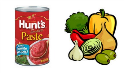 hunts paste and veggies