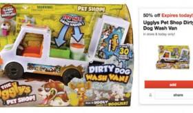 Target 50% off Toy Deal for 11/19 – Ugglys Pet Shop Dirty Dog Wash Van Only $7.49
