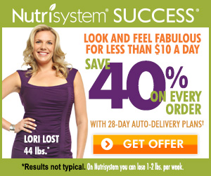 Thinking about doing NUTRISYSTEM?  Here's 40% off or a $50 credit!!