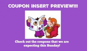 Coupon Insert Preview – Sunday, July 15th ONE insert!