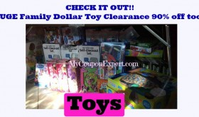 OH BOY!!  90% off TOYS at Family Dollar TOO!!  LOOK!!