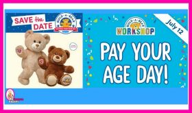 Build-A-Bear Pay Your Age Day!