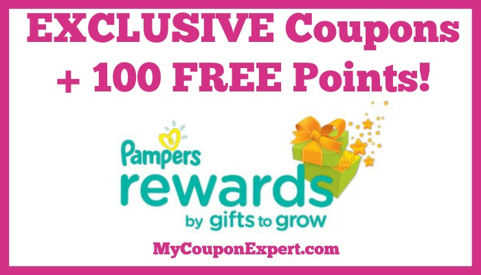 Check it out! EXCLUSIVE Coupons + 100 FREE Points from Pampers Rewards Program!!