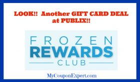 PUBLIX Gift Card Program!!  Frozen Rewards for 2018!