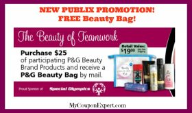WOW!!  Free BEAUTY BAG from Publix and P&G!!  Look at this!