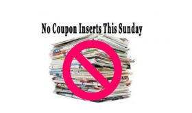 NO COUPON INSERTS on Sunday, December 17th -OR- 24th!!