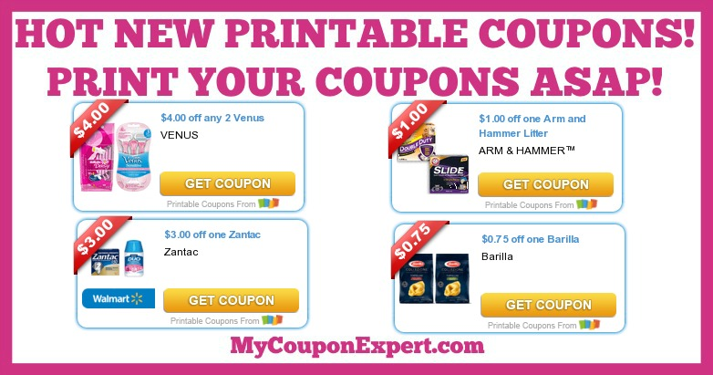 graphic regarding Arm and Hammer Printable Coupons called Scorching Contemporary Printable Coupon codes: Venus, Arm and Hammer, Zantac