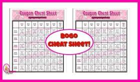 Printable Coupon Cheat Sheet!
