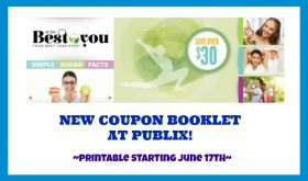 New Publix Coupon Booklet! Be the Best You!  Check this out!