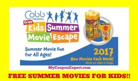 FREE Kids Summer Movie Escape Schedule for 2017 at Cobb Theaters