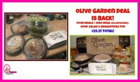 OLIVE GARDEN BOGO DEAL!!  Plus a $5.00 off $30.00 Coupon Online!!