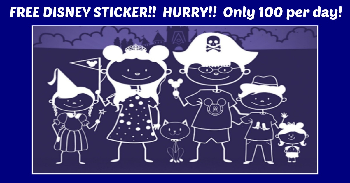 FREE Disney Stick Figures Family Decal! HURRY!!!