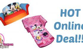 Children's 2 in 1 Flip Open Foam Sofa Under $25.00 – 51% Savings