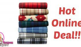 Essential Home Fleece Throw Only $3.99 (Reg. $7.99)