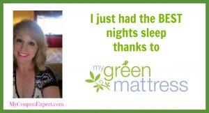 I just had the BEST nights sleep thanks to My Green Mattress!