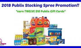 Publix Stocking Spree Program!  Get a $10 Publix Gift Card wyb $50!!