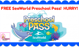 FREE SeaWorld Preschool Pass for kids!  Unlimited Admission!