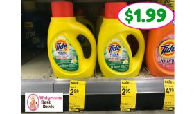 Tide Simply just $1.99 at Walgreens!!  Easy Deal!