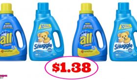 Snuggle or All Detergent just $1.38 at CVS!  Check it out!