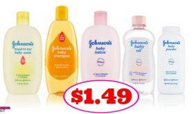 Johnson's & Johnson's Baby Items $1.49 at CVS!