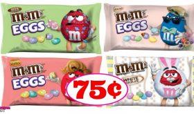 Easter M&Ms just 75¢ each bag at CVS!!